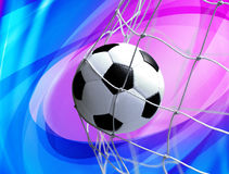 Soccer ball on abstract background. Soccer ball in goal net on abstract background vector illustration