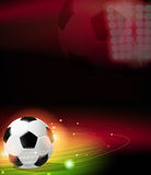 Soccer ball on abstract  background Royalty Free Stock Photo