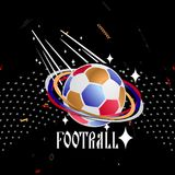 Soccer ball on an abstract background. Vector illustration Royalty Free Stock Photos