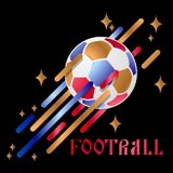 Soccer ball on an abstract background. Vector illustration stock illustration