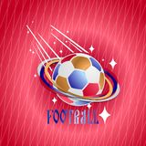 Soccer ball on an abstract background. Vector illustration Vector Illustration