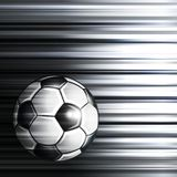 Soccer ball on abstract background. Vector illustration Royalty Free Stock Image
