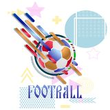 Soccer ball on an abstract background. Vector illustration Stock Photography