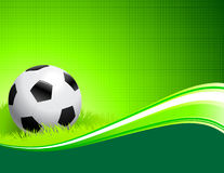 Soccer Ball on abstract green Background Stock Photos