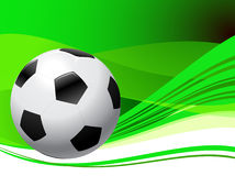 Soccer Ball on abstract green Background Stock Photo