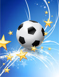 Soccer Ball on Abstract Modern Light Background Stock Photography