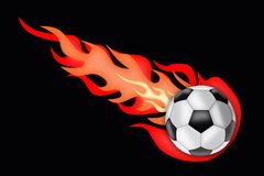Soccer ball afire Royalty Free Stock Photos