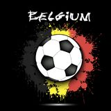 Soccer ball and Belgium flag Royalty Free Stock Photo