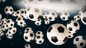 Soccer ball against dark blue, stock footage