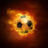 Soccer Ball And Fire Royalty Free Stock Photos