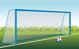 Soccer Ball And Gate Royalty Free Stock Photo
