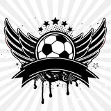 Soccer ball ang wing Stock Images