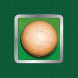 Soccer ball app icon Stock Photo