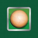 Soccer ball app icon. Retro soccer ball app icon. Vector illustration Stock Photo