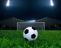 Soccer Ball in an Arena Stock Images
