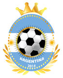 Soccer ball on Argentina flag Stock Image