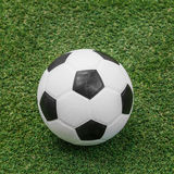 Soccer ball on artificial turf Stock Photo