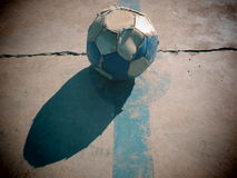 Soccer ball. Artistic vision of a soccer ball and poverty Stock Photography