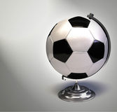 Soccer ball as globe royalty free illustration