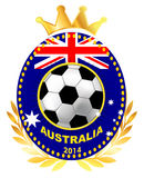 Soccer ball on Australia flag Royalty Free Stock Photography