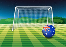 A soccer ball from Australia Royalty Free Stock Images