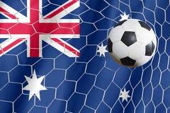 Soccer ball and australian flag Royalty Free Stock Photography