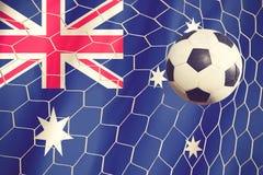 Soccer ball and australian flag Royalty Free Stock Photos