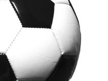 Soccer Ball B/W. A soccer ball dramatically composed in black and white Royalty Free Stock Photos