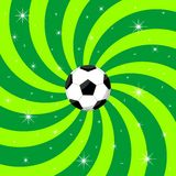 Soccer ball on background Royalty Free Stock Photos