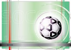 Soccer ball background Stock Photos