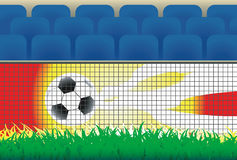 Soccer ball background. Royalty Free Stock Images