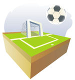 Soccer ball background. Stock Photography