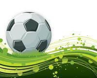 Soccer Ball Background. An illustration of a soccer ball on an abstract wavy background Royalty Free Stock Photography