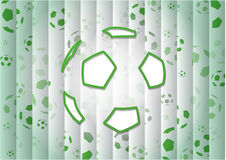 Abstract Green Background With Soccer Ball Stock Photos