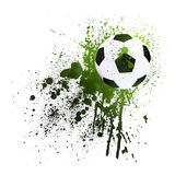 Soccer ball on the background of beautiful blots Stock Photo
