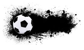 Soccer ball on the background of beautiful blots Stock Photos
