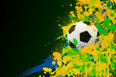 Soccer ball on the background of beautiful blots Stock Image