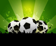 Soccer ball on the background of beautiful blots Royalty Free Stock Photo