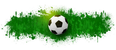 Soccer ball on the background of beautiful blots Stock Photography