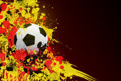 Soccer ball on the background of beautiful blots Royalty Free Stock Photos