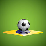 Soccer ball background. Brazil flag concept vector Royalty Free Stock Images