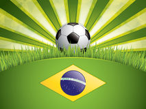 Soccer ball background. Brazil flag concept vector Vector Illustration