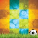 Soccer ball background. Brazil flag concept vector Royalty Free Stock Photo