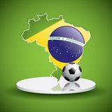 Soccer ball background. Brazil flag concept vector Royalty Free Stock Photography