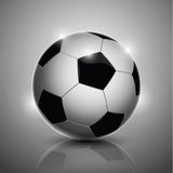 Soccer ball  on background. Classic soccer ball  on gray background Stock Image