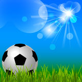 Soccer ball  background Stock Photo