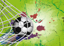 Soccer Ball on background for Football Design Stock Photography