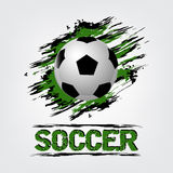 Soccer ball background with grunge effect Royalty Free Stock Image