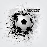 Soccer ball background with grunge effect Stock Image