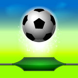 Soccer ball on the background Royalty Free Stock Images